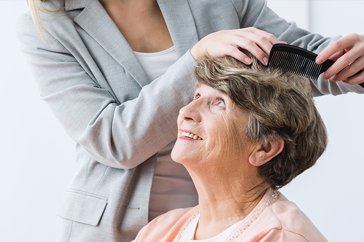Peachy 10 Caregiver Tips For Caring For An Elderly Persons Hair Download Free Architecture Designs Rallybritishbridgeorg