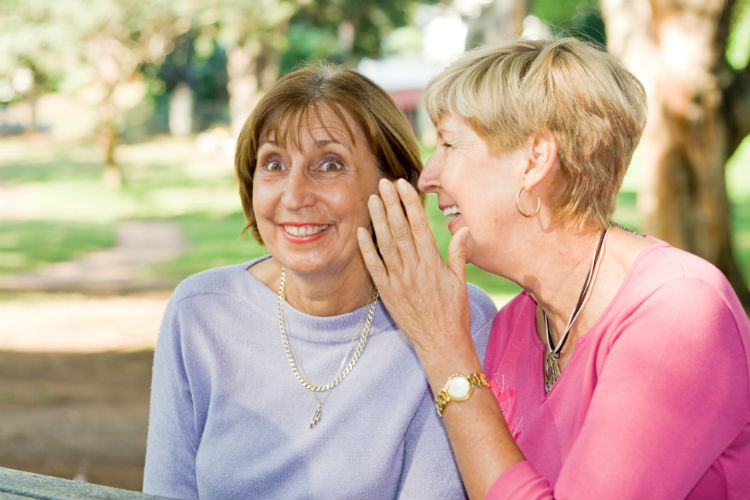 Elderly woman shocked by friend's secret