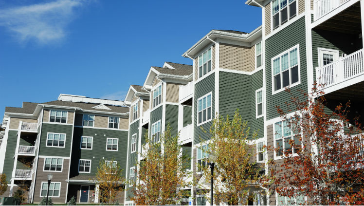 Independent living apartments in a CCRC