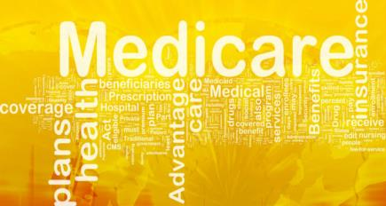 Wordcloud illustration of medicare affiliated words