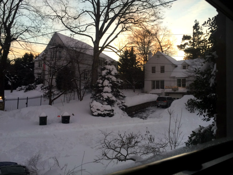 A view from John's house after the blizzard