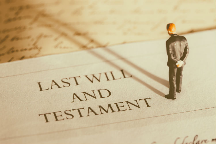 Last Will and Testament with Male Figure