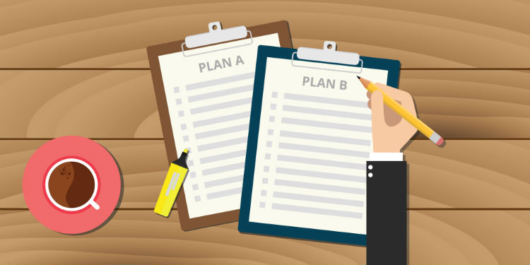 """Illustration of comparing """"Plan A"""" and """"Plan B"""""""