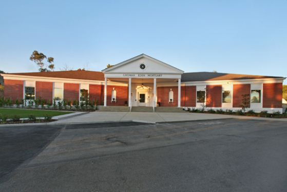 Groman Eden Mortuary at Mission Hills, CA