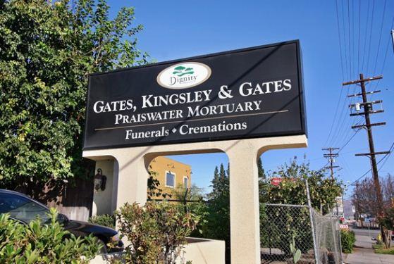 Gates, Kingsley & Gates Praiswater Mortuary at Canoga Park, CA