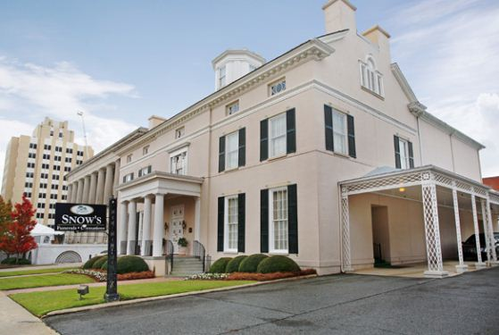 Snow 39 s memorial chapel macon ga funeral home for Home builders macon ga