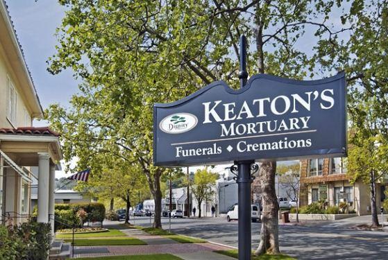 Keaton's Mortuary at San Rafael, CA