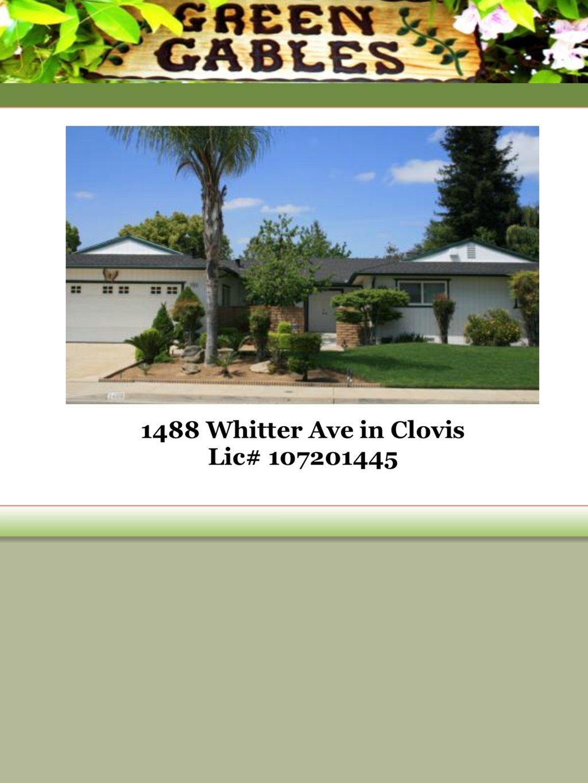 Green Gables Care Home I at Clovis, CA